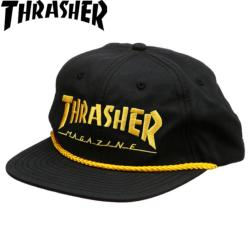 Casquette Thrasher Logo Rope Snapblack Black Yellow