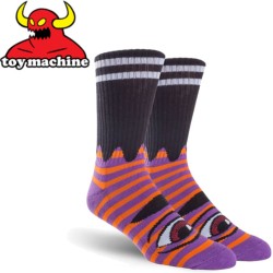 Chaussettes Toy Machine Sect Eye Stripe Purple Red