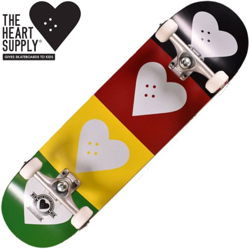 Skateboard complet The Heart Supply Quad Logo Red/Gold/Green 8.25""