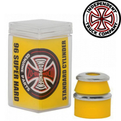 Independent bushing Super Hard Cylinder Standard 96A Yellow (jeu de 4 gommes)