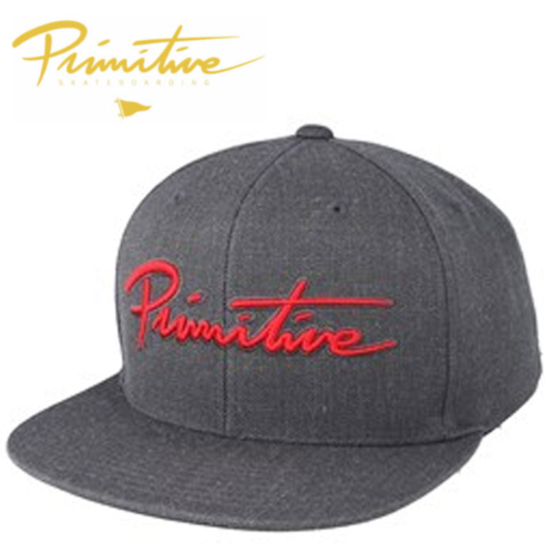 Casquette Primitive grey red tag