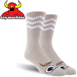 Chaussettes Toy Machine Turtle Stache Grey