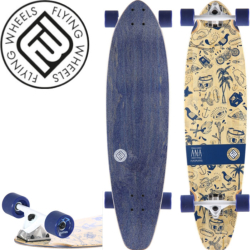Longboard Flying Wheels Ink is Drug Bamboo 37""