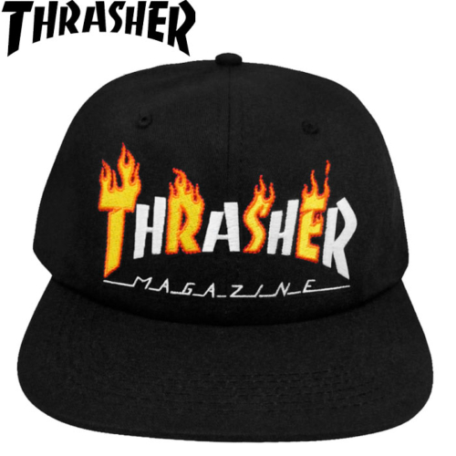 Casquette Thrasher Flame Mag Snapback Black