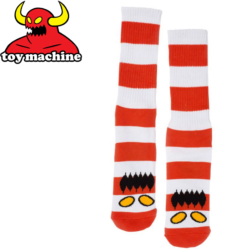 Chaussettes Toy Machine Monster Big Stripe Red