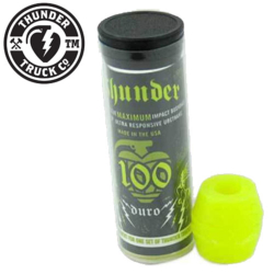 Thunder bushing Tube 100A Neon Yellow (jeu de 4 gommes)