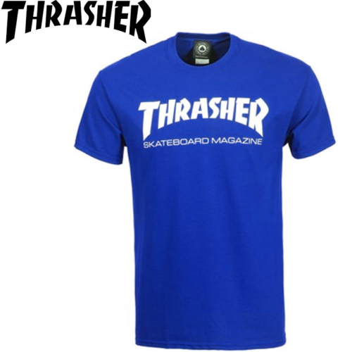 Tee-shirt Thrasher skate magazine Royal blue