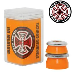 Independent bushing Medium Conical 90A orange (jeu de 4 gommes)