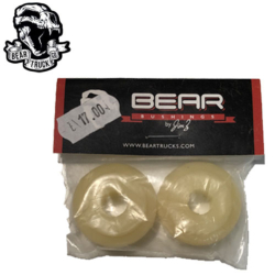 Bear Trucks bushing Double stepped Barrel 82.5A White (jeu de 2 gommes)