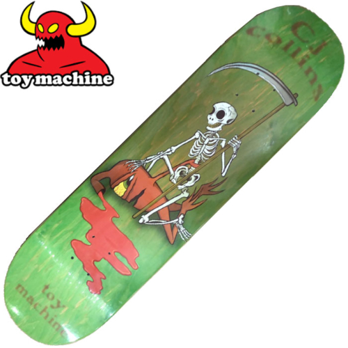 Plateau TOY MACHINE COLLINS REAPER SKELETON Green 8.25""