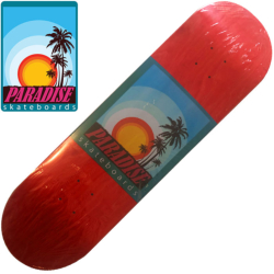 Plateau Paradise Skate Co Logo Series Red 8""