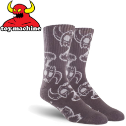 Chaussettes Toy Machine Monster Skull Charcoal