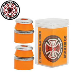 Independent bushing Cylinder Medium 90A Orange (jeu de 4 gommes)