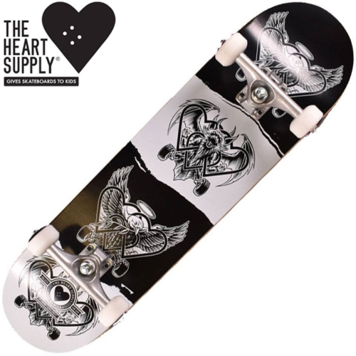 Skateboard complet The Heart Supply Dark light Pro Black/White 8""