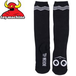 Chaussettes Toy Machine Turtle Face Knee High Sock Black