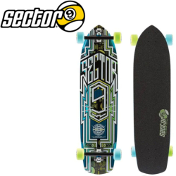 Longboard Sector Nine Carbon Green/Blue