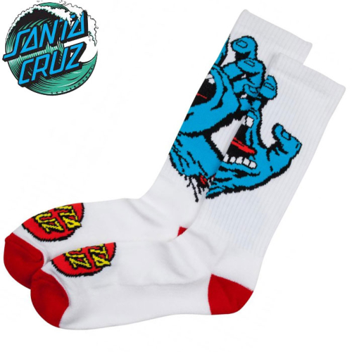 Chaussettes Santa-Cruz Screaming White
