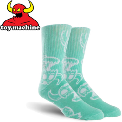 Chaussettes Toy Machine Monster Skull Aqua