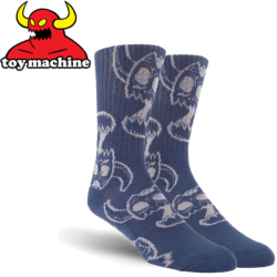 Chaussettes Toy Machine Monster Skull Blue