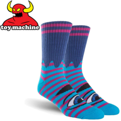 Chaussettes Toy Machine Sect Eye Navy / Purple